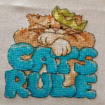 Cats Rule Finish
