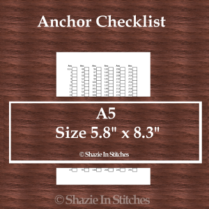 A5 Size – Anchor Checklist Pages
