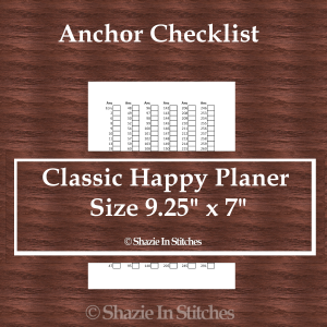 CHP – Anchor Checklist Pages