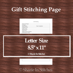 Letter Size – Gift Stitching Page