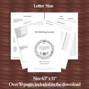 Letter Size Cross Stitch Journal
