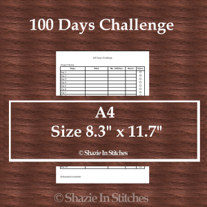 A4 Size – 100 Day Challenge Page