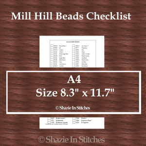 A4 Size – Mill Hill Beads Checklist