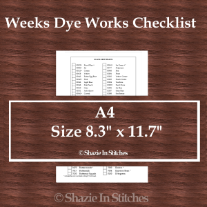 A4 Size – Weeks Dye Works Checklist