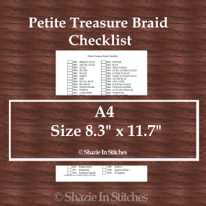 A4 Size – Petite Treasure Braid Checklist