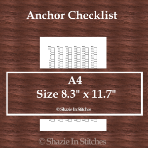 A4 Size – Anchor Checklist Pages
