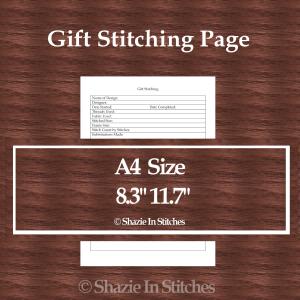 A4 Size – Gift Stitching Page