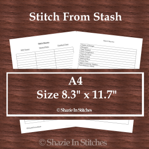 A4 Size – Stitch From Stash Page