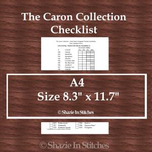 A4 Size – The Caron Collection Checklist