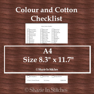 A4 Size – Colour and Cotton Checklist Pages