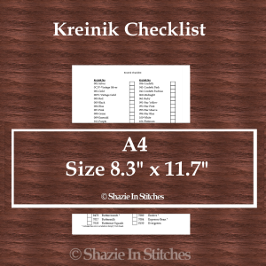 A4 Size – Kreinik Checklist
