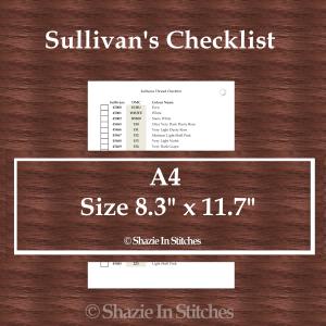 A4 Size – Sullivan's Checklist Pages