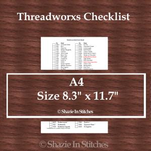 A4 Size – Threadworx Checklist