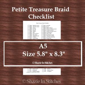 A5 Size – Petite Treasure Braid Checklist