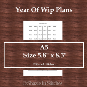 A5 Size – Year of Wips Page