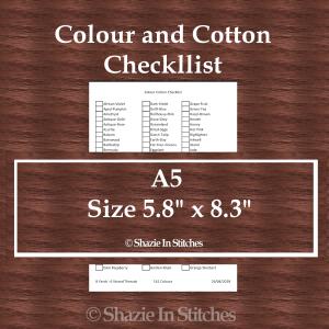A5 Size – Colour and Cotton Checklist Pages