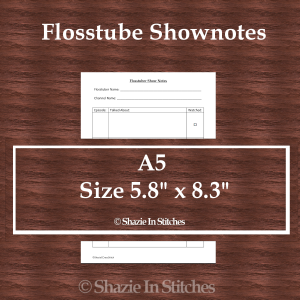 A5 Size – Flosstube Shownotes Page