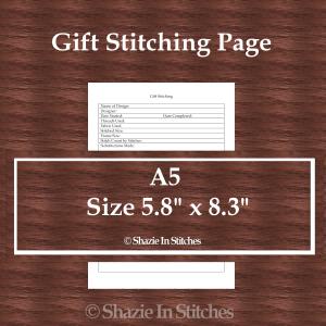 A5 Size – Gift Stitching Page