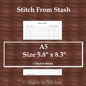 A5 Size – Stitch From Stash Page