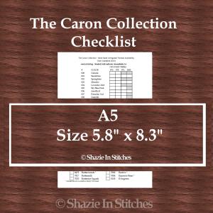 A5 Size – The Caron Collection Checklist