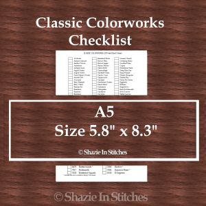 A5 Size – Classic Colorworks Checklist