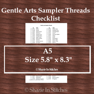 A5 Size – Gentle Arts Sampler Thread