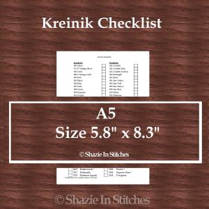 A5 Size – Kreinik Checklist