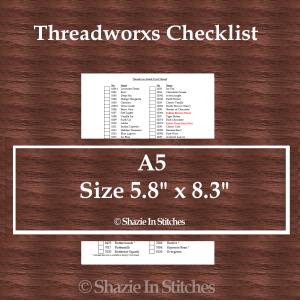 A5 Size – Threadworx Checklist
