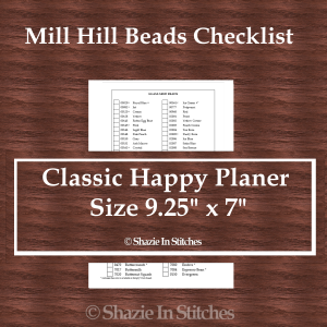 CHP – Mill Hill Bead Checklist