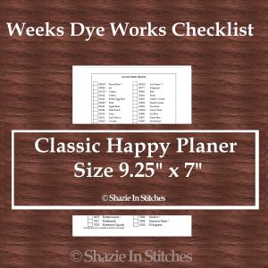 CHP – Weeks Dye Works Checklist