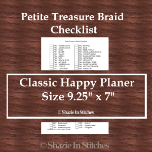 CHP – Petite Treasure Braid Checklist