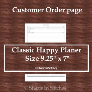 CHP – Customer Order Page