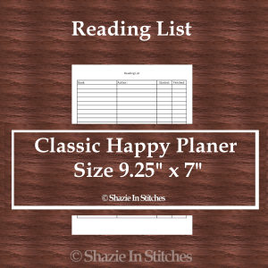 CHP – Reading List Page