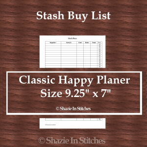 CHP – Stash Buys List Page