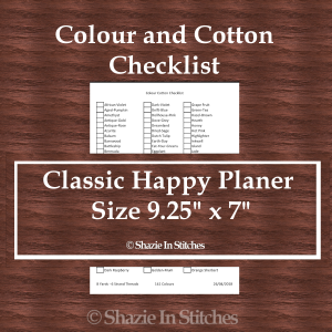 CHP – Colour and Cotton Checklist