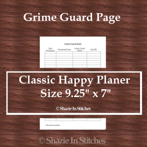 CHP – Grime Guard Page
