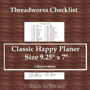 CHP – Threadworxs Checklist