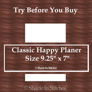 Classic Happy Planner Size – Try Before You Buy