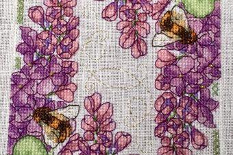 Lilac Biscornu by Faby Reilly