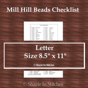 Letter Size – Mill Hill Beads Checklist
