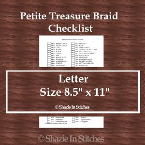 Letter Size – Petite Treasure Braid Checklist