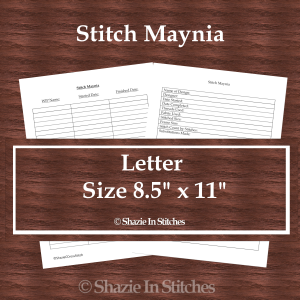 Letter Size – Stitch Maynia Pages