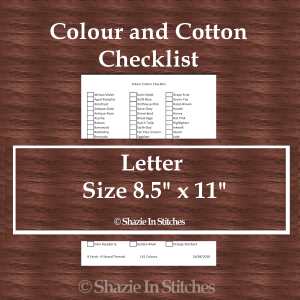 Letter Size – Colour and Cotton Checklist Pages