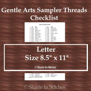 Letter Size – Gentle Arts Sampler Threads Checklist