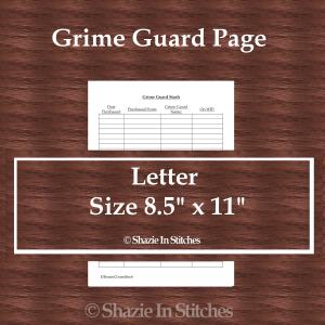Letter Size – Grime Guard Page