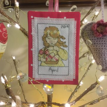 Poorly but…. I stitched and finished this….