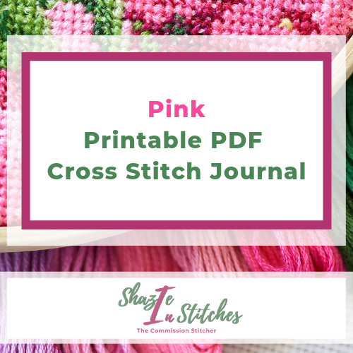Pink - Printable PDF Cross Stitch Journal